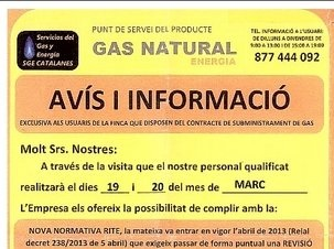 Estafas de falsos revisores de gas